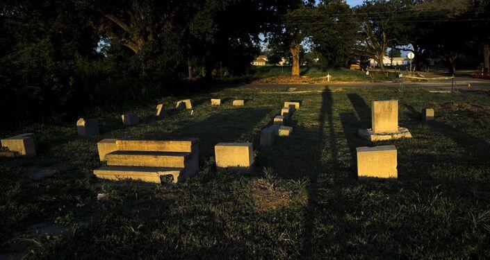 Los restos de una casa destruida por el huracán Katrina