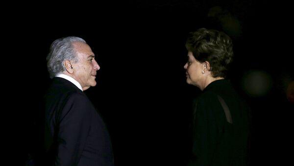 El vicepresidente del Gobierno de Brasil, Michel Temer, y la presidenta de Brasil, Dilma Rousseff - Sputnik Mundo