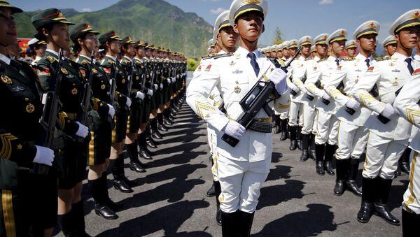 Ensayo de un desfile militar en Pekín - Sputnik Mundo