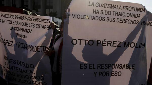 Manifestantes en Guatemala exigen renuncia del presidente - Sputnik Mundo
