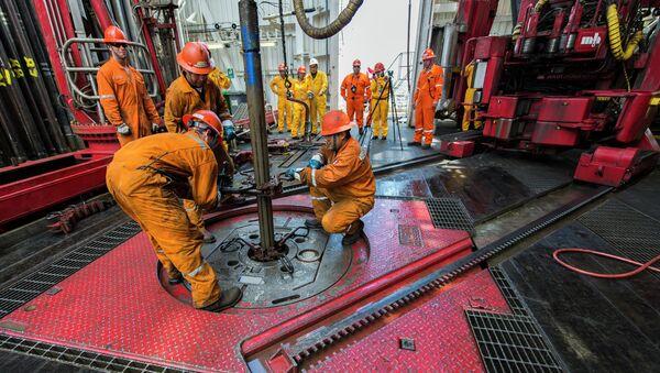 Platforma petrolífera La Muralla IV de petrolera mexicana PEMEX - Sputnik Mundo