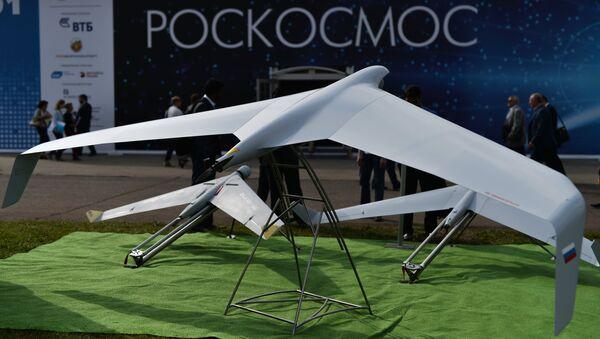 Drones Zala 421-04M y Zala 421-16E5 en la exposición MAKS 2015 - Sputnik Mundo