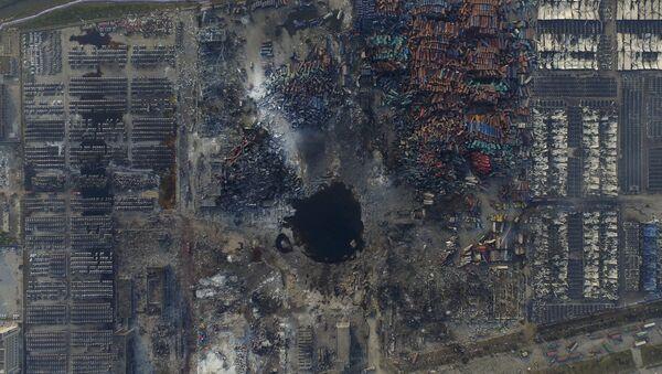 Lugar de la explosión de Tianjin - Sputnik Mundo