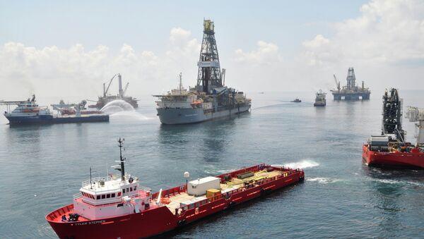 Yacimiento de petróleo en Golfo de México - Sputnik Mundo