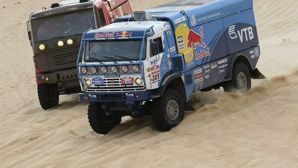 Automóvil Kamaz durante el rally internacional Ruta de la Seda (archivo) - Sputnik Mundo
