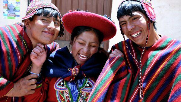 Jóvenes campesinos de Ecuador - Sputnik Mundo