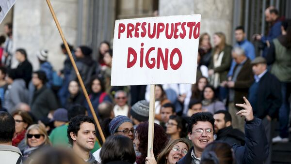 Huelga de profesores y estudiantes en Montevideo - Sputnik Mundo