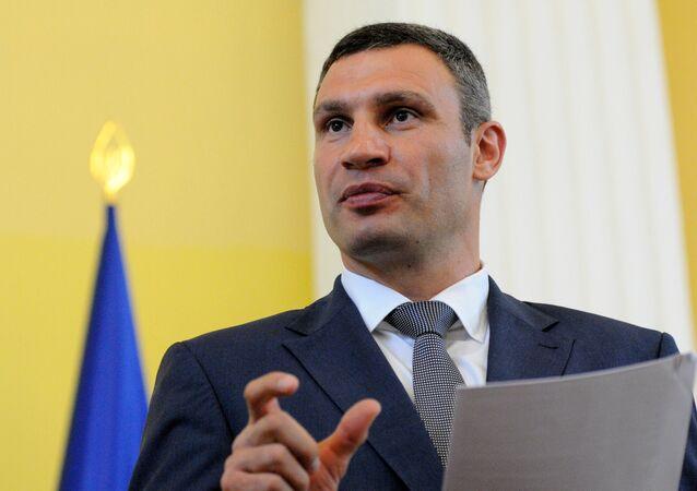 Vitali Klichkó, líder del partido ucraniano Udar y alcalde de Kiev