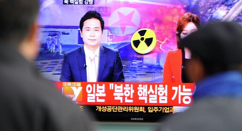 Noticias surcoreanos informan sobre prueba nuclear realizada por Corea del Norte (archivo)