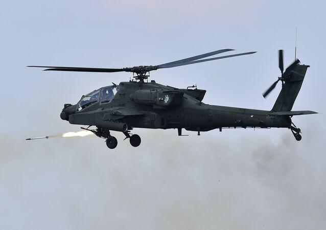 Helicóptero Apache AH-64 norteamericano (archivo)