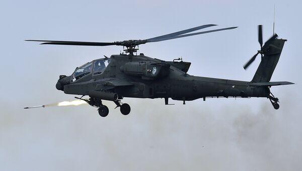 Helicóptero Apache AH-64 norteamericano (archivo) - Sputnik Mundo