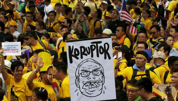 Manifestación de protesta en Kuala Lumpur - Sputnik Mundo