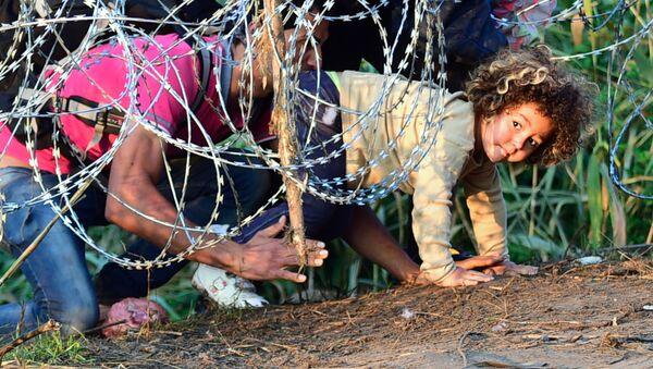Inmigrantes en la frontera entre Serbia y Hungría - Sputnik Mundo