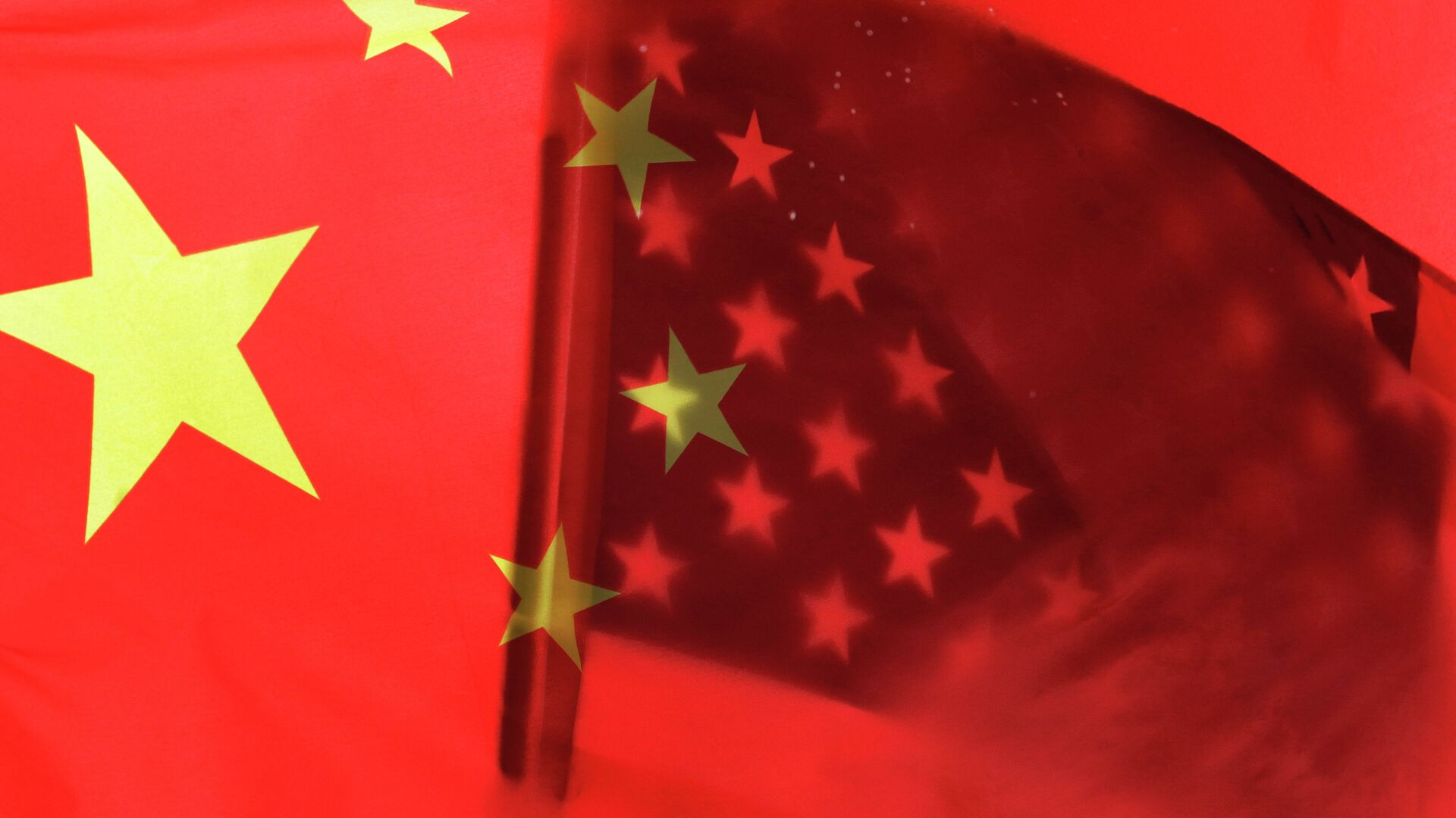 Banderas de China y EEUU - Sputnik Mundo, 1920, 28.07.2020