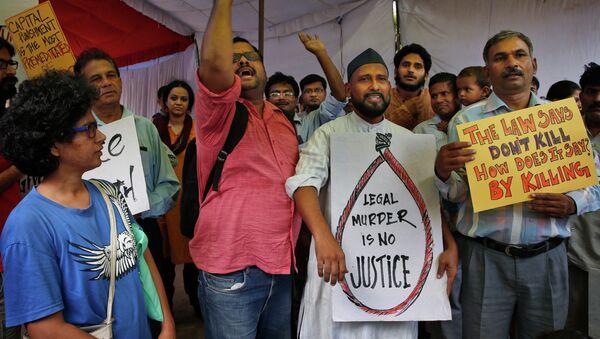 Manifestantes protestan contra ejecución de Yakub Abdul Razak Memon - Sputnik Mundo