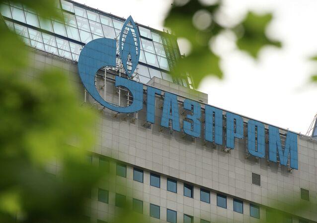 Letrero de 'Gazprom'