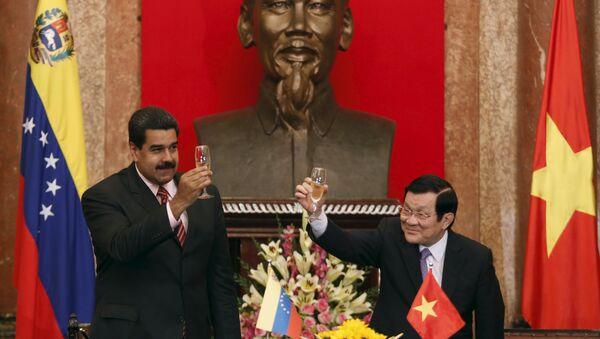 Presidente de Venezuela Nicolás Maduro y presidente de Vietnam Truong Tan Sang - Sputnik Mundo