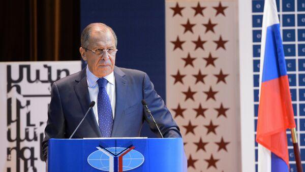 Serguéi Lavrov, ministro de Asuntos Exteriores de Rusia, el 1 de septiembre, 2015 - Sputnik Mundo