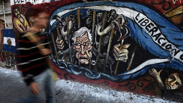Un grafiti en Buenos Aires, Argentina - Sputnik Mundo