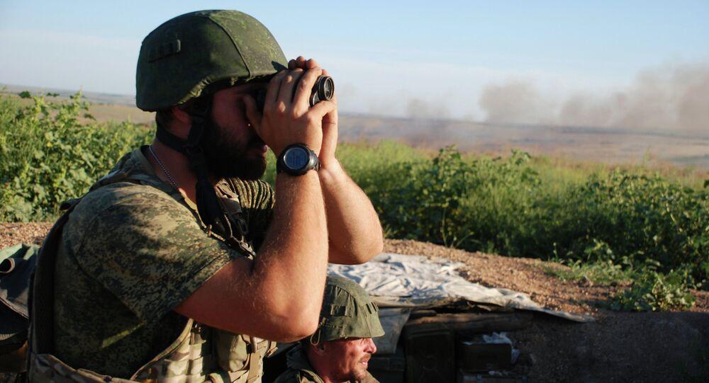Milicianos de la RPD en la región de Donetsk (imagen referencial)