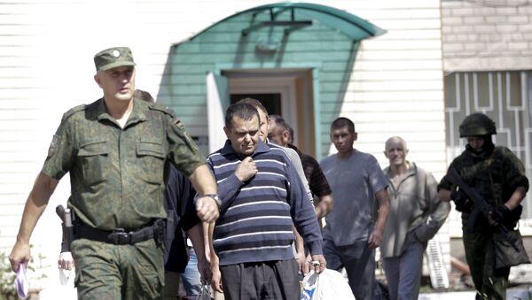 Prisioneros de guerra en Donetsk - Sputnik Mundo