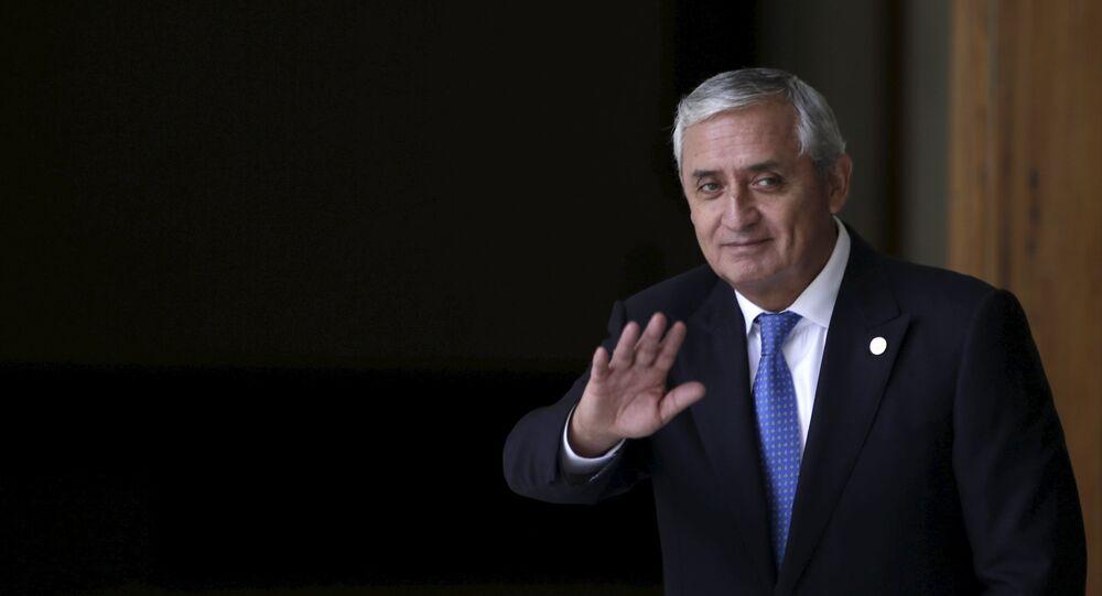 Otto Pérez Molina, el expresidente de Guatemala