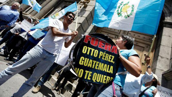 Manifestación frente al Congreso de Guatemala - Sputnik Mundo