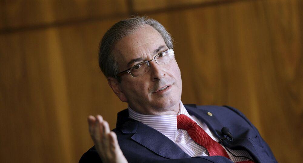 Eduardo Cunha, presidente del Congreso de los Diputados de Brasil