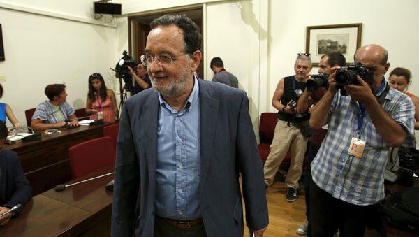 Panayotis Lafazanis, el líder del partido griego Unidad Populaк - Sputnik Mundo