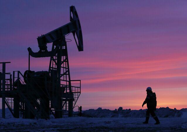 Extracción de petróleo en Bashkortostán, Rusia