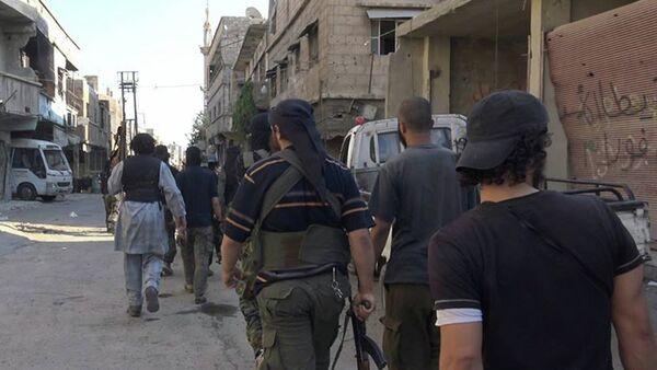 Militantes del Estado Islámico en Damasco, Siria, el 30 de agosto, 2015 - Sputnik Mundo