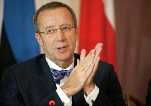 Toomas Hendrik, presidente de Estonia