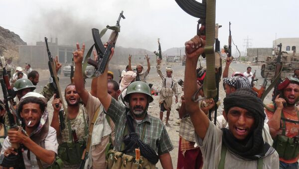 Fuerzas leales al presidente Abdo Rabu Mansur Hadi en Yemen (archivo) - Sputnik Mundo