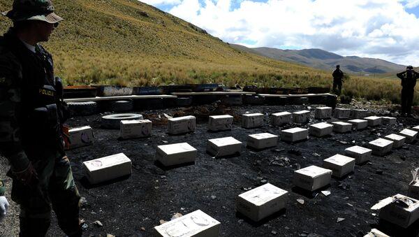 La cocaína confiscada en Bolivia (archivo) - Sputnik Mundo