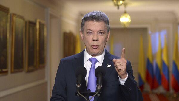 El presidente de Colombia, Juan Manuel Santos - Sputnik Mundo