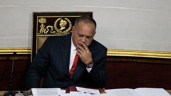 El titular de la Asamblea Nacional (Parlamento) de Venezuela, Diosdado Cabello - Sputnik Mundo