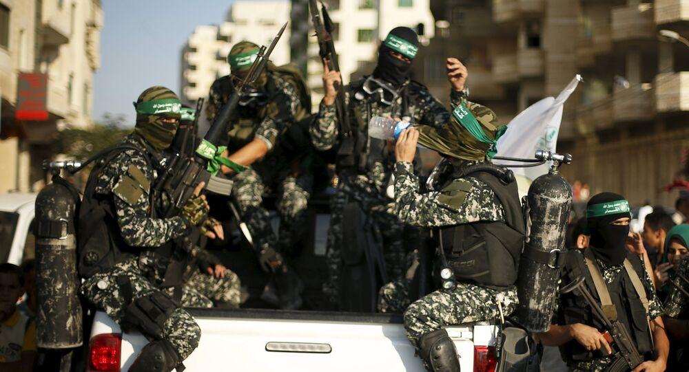 Palestino islamista Hamás en la Franja de Gaza