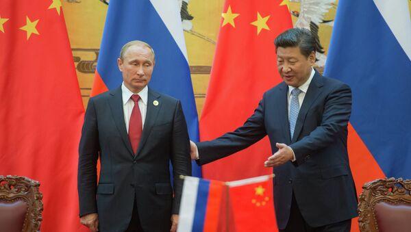 Presidente de China, Xi Jinping y presidente de Rusia, Vladímir Putin - Sputnik Mundo