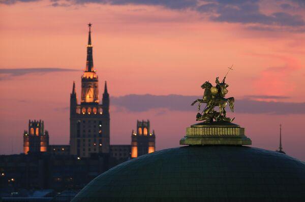 Plaza Manézhnaya en Moscú - Sputnik Mundo