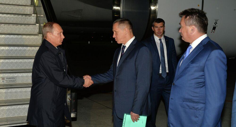 Presidente de Rusia, Vladímir Putin en Vladivostok