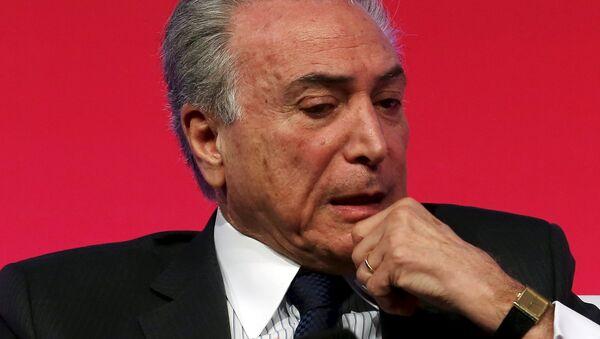 Michel Temer, presidente de Brasil - Sputnik Mundo