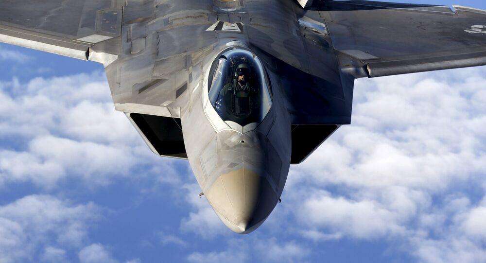 Un caza estadounidense F-22