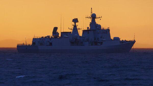Destructor chino Shenyang durante las maniobras Cooperación Naval 2015 - Sputnik Mundo