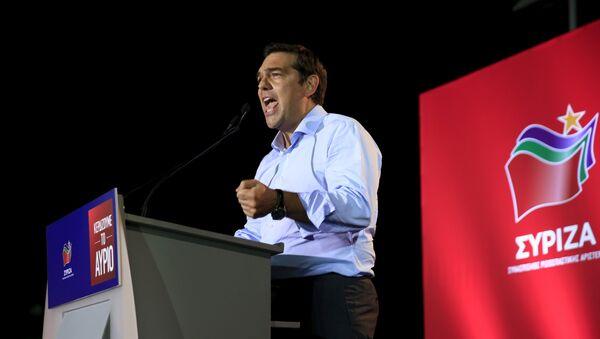 Alexis Tsipras, líder de Syriza - Sputnik Mundo
