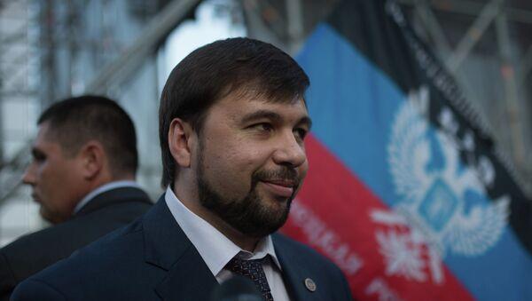 Заместитель председателя Народного Совета Донецкой народной республики Денис Пушилин - Sputnik Mundo