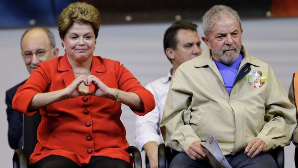 Presidenta de Brasil, Dilma Rousseff, y expresidento de Brasil, Luiz Inácio Lula da Silva - Sputnik Mundo