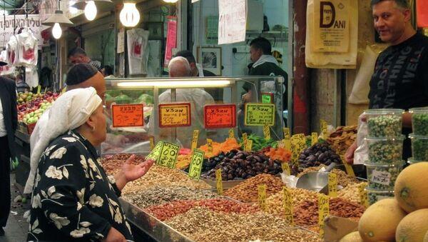 Mercado Majane Yehuda en Jerusalén está especialmente animado en víspera de Shabat - Sputnik Mundo
