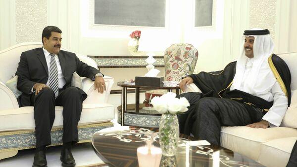 Presidente de Venezuela Nicolás Maduro y Emir de Catar Tamim Bin Hamad Al Zani - Sputnik Mundo