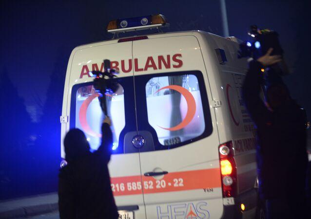 Una ambulancia turca (archivo)
