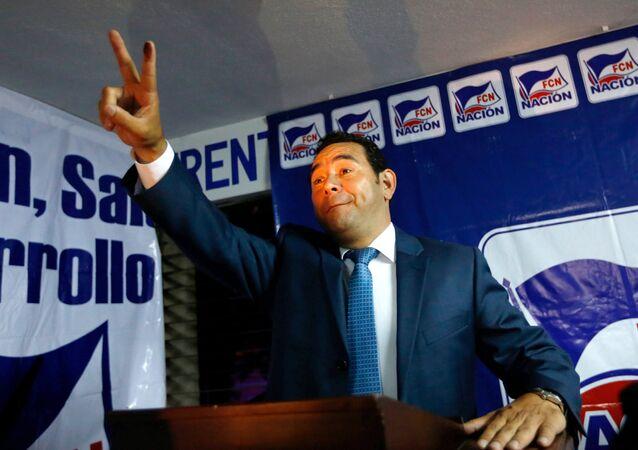Jimmy Morales, candidato por el Frente de Convergencia Nacional a la presidencia de Guatemala